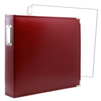 Scrapbook.com - 12 x 12 Three Ring Album - Deep Red with 10 Page Protectors