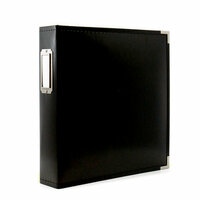 8.5 x 11 Three Ring Album - Black