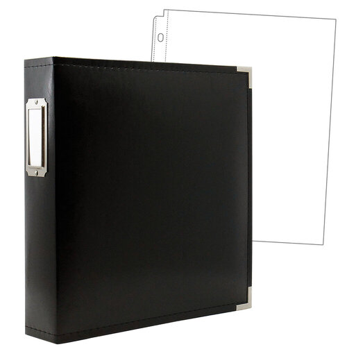 Scrapbook.com - 8.5 x 11 Three Ring Album - Black with 10 Page Protectors