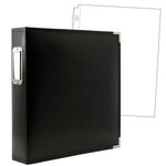 8.5 x 11 Three Ring Album - Black with 10 Page Protectors