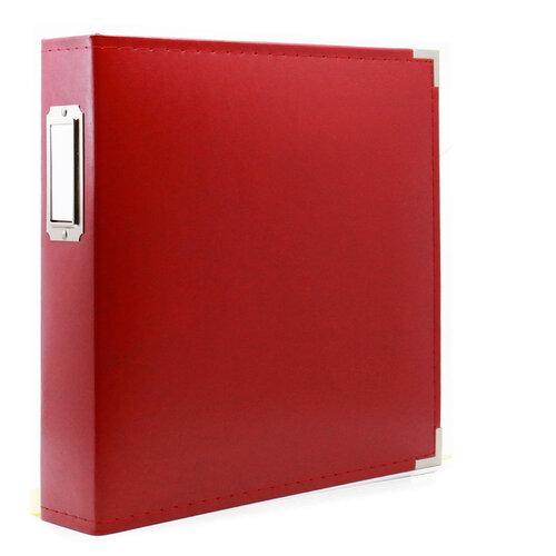 Scrapbook.com - 8.5 x 11 Three Ring Album - Red