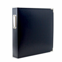 8.5 x 11 Three Ring Album - Navy