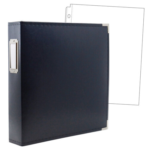 Scrapbook.com - 8.5 x 11 Three Ring Album - Navy with 10 Page Protectors