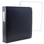 8.5 x 11 Three Ring Album - Navy with 10 Page Protectors