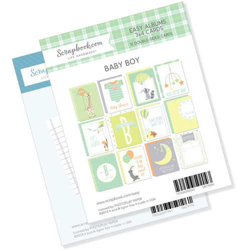 3 x 4 - Journaling and Themed Cards for Easy Albums - Baby Blues Bundle