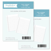 Scrapbook.com - 3 x 4 - Journaling Cards for Easy Albums - Lined - 24 Pack