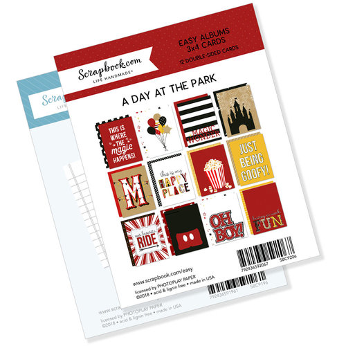 Scrapbook.com - 3 x 4 - Journaling and Themed Cards for Easy Albums - Magical Day at the Park Bundle