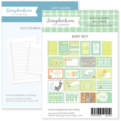 4 x 6 - Journaling and Themed Cards for Easy Albums - Baby Blues Bundle