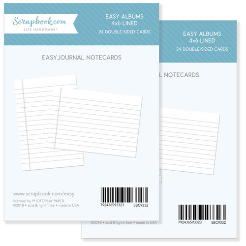Scrapbook.com - 4 x 6 - Journaling Cards for Easy Albums - Lined - 48 Pack