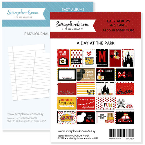 4 x 6 - Journaling and Themed Cards for Easy Albums - Magical Day at the Park Bundle