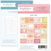 Scrapbook.com - 4 x 6 - Journaling and Themed Cards for Easy Albums - Baby Pinks Bundle