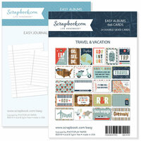 4 x 6 - Journaling and Themed Cards for Easy Albums - Travel and Vacation Bundle