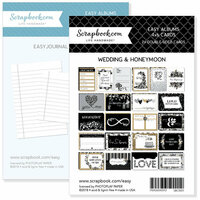 Scrapbook.com - 4 x 6 - Journaling and Themed Cards for Easy Albums - Wedding and Honeymoon Bundle