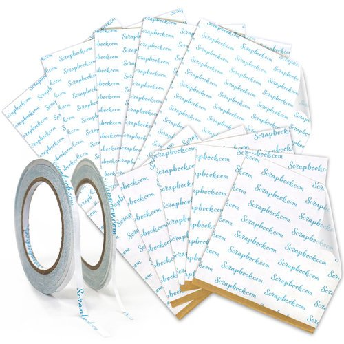 Clear Double Sided Adhesive - Roll and Sheet Variety Bundle - 4 Pack