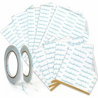 Scrapbook.com - Clear Double Sided Adhesive - Roll and Sheet Variety Bundle - 4 Pack