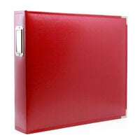 Scrapbook.com - 12x12 Three Ring Album - Red