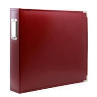 Scrapbook.com - 12x12 Three Ring Album - Deep Red