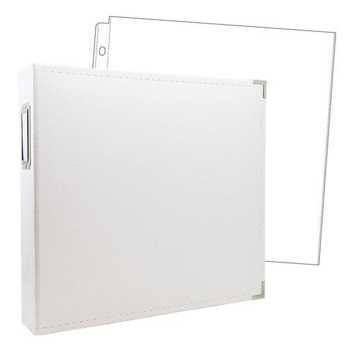 Scrapbook.com - 12x12 Three Ring Album - White - With 12x12 Page Protectors 10 pk