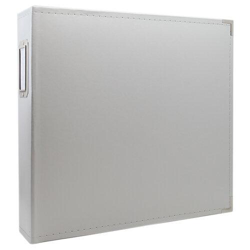Scrapbook.com - 12x12 Three Ring Album - Light Gray
