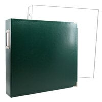 Scrapbook.com - 12x12 Three Ring Album - Forest Green - With 12x12 Page Protectors 10 pk