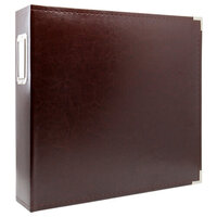 Scrapbook.com - 12x12 Three Ring Album - Chestnut Brown