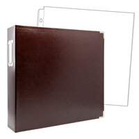 Scrapbook.com - 12x12 Three Ring Album - Chestnut Brown - With 12x12 Page Protectors 10 pk