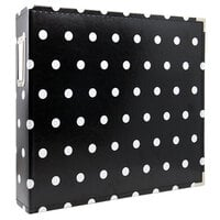 Scrapbook.com - 12x12 Three Ring Album - Black with White Dots