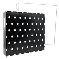 Scrapbook.com - 12x12 Premium Three Ring Album - Black with White Dots - With 12x12 Page Protectors 10 pk