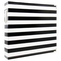 Scrapbook.com - 12x12 Three Ring Album - Black and White Stripe