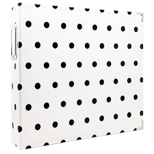 Scrapbook.com - 12x12 Premium Three Ring Album - White with Black Dots