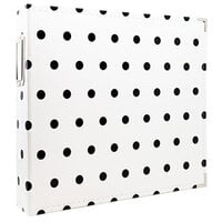 Scrapbook.com - 12x12 Premium Three Ring Album - White with Black Dots