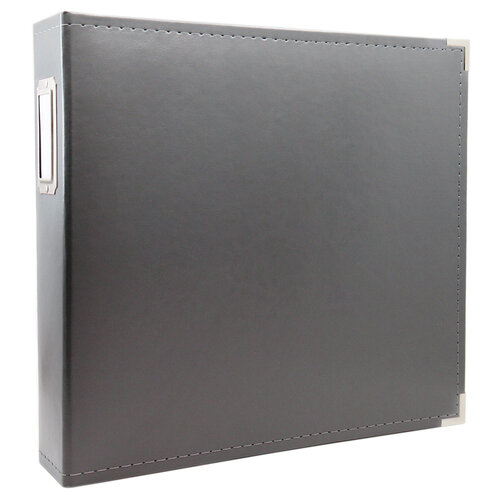 Scrapbook.com - 12x12 Three Ring Album - Charcoal Gray