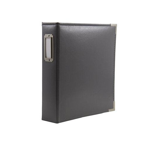 Scrapbook.com - 6x8 Two Ring Album - Charcoal Gray