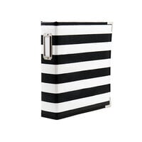 Scrapbook.com - 6x8 Two Ring Album - Black and White Stripe