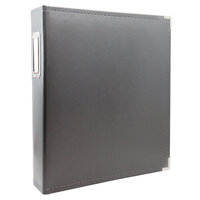 Scrapbook.com - 9x12 Three Ring Album - Charcoal Gray