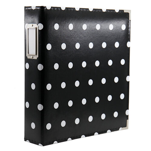 Scrapbook.com - 9x12 Premium Three Ring Album - Black and White Dot