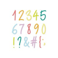 Scrapbook.com - Decorative Die Set - Uptown Numbers and Characters
