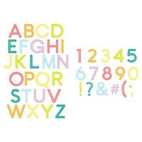 Scrapbook.com - Decorative Die Set - Downtown Letters and Numbers