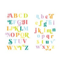 Scrapbook.com - Decorative Die Set - Festive Alphabet - Upper and Lower