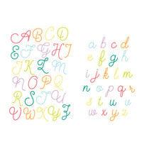 Scrapbook.com - Decorative Die Set - Loopy Cursive Alphabet - Upper and Lower