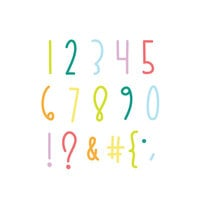 Scrapbook.com - Decorative Die Set - Opposites Attract Numbers and Characters
