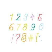 Scrapbook.com - Decorative Die Set - Loopy Cursive Numbers and Characters