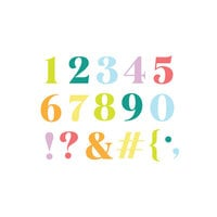Scrapbook.com - Decorative Die Set - Festive Numbers and Characters