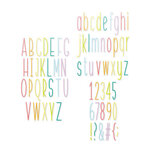 Scrapbook.com - Decorative Die Set - Alphabet and Number Bundle - Tall Skinny