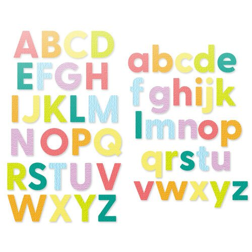 Scrapbook.com - Decorative Die Set - Bold Basic Alphabet - Upper and Lower