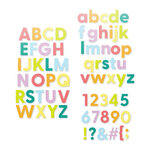 Scrapbook.com - Decorative Die Set - Alphabet and Number Bundle - Bold Basic