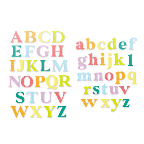 Scrapbook.com - Decorative Die Set - Classic Type Alphabet - Upper and Lower