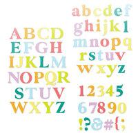 Scrapbook.com - Decorative Die Set - Alphabet and Number Bundle - Classic Type