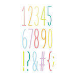 Scrapbook.com - Decorative Die Set - Tall Skinny Numbers and Characters