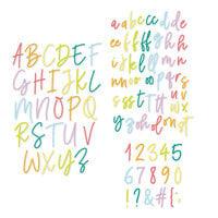 Scrapbook.com - Decorative Die Set - Alphabet and Number Bundle - Uptown